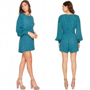 Free People Green Combo Love Grows Romper